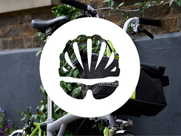 folding bike bike radar logo